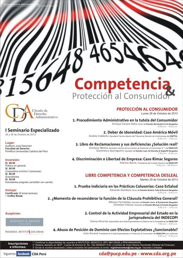 CDA - Seminario Competencia y Consumidor (28 y 29 Octubre 2013 - PUCP) LD
